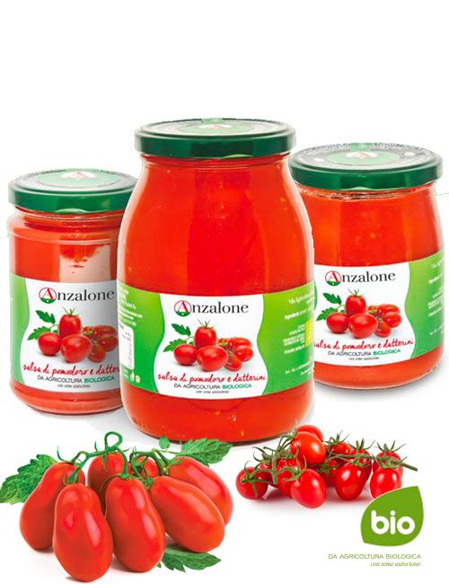 Salsa di pomodoro e datterini - Bio